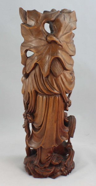Chinese Carved Wood Statues Of Buddha - 7