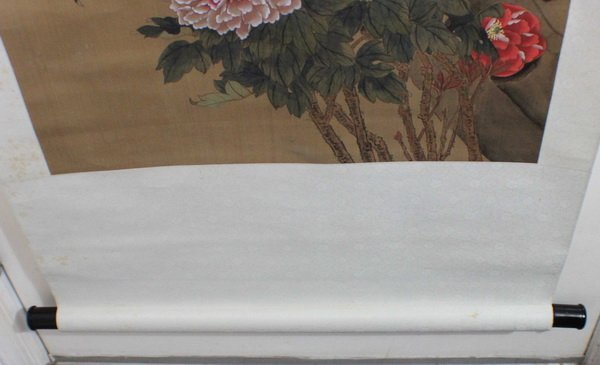 Chinese Hand Painted On Silk Scroll W/Box - 7