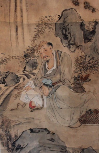 Chinese Hand Painted Scroll - 6