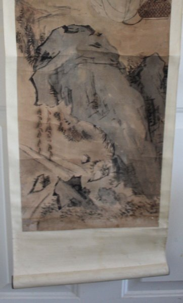Chinese Hand Painted Scroll - 8