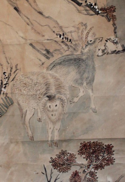 Chinese Hand Painted Scroll - 5