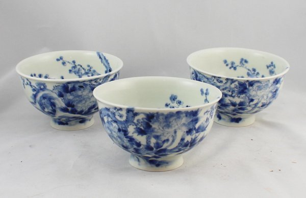 Lot Of 3 Antique Chinese Porcelain Bowls