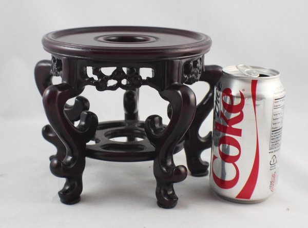 Chinese Carved Wood Stand - 3