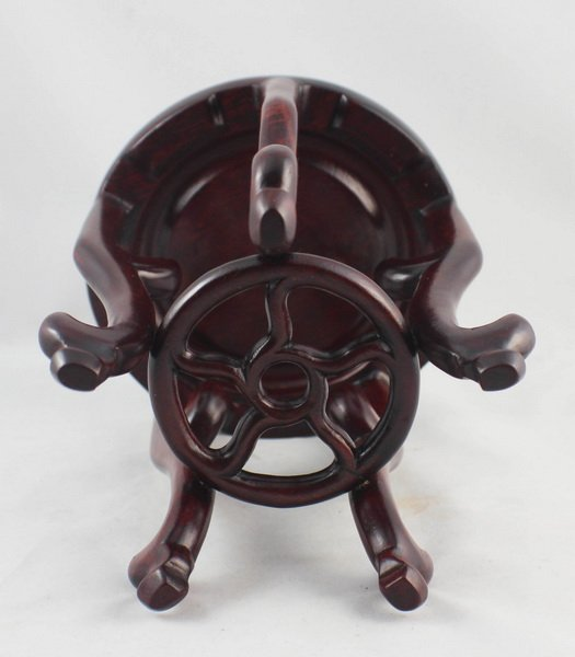Chinese Carved Wood Stand - 7