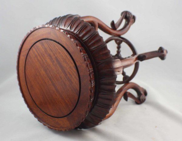 Chinese Carved Wood Stand - 4