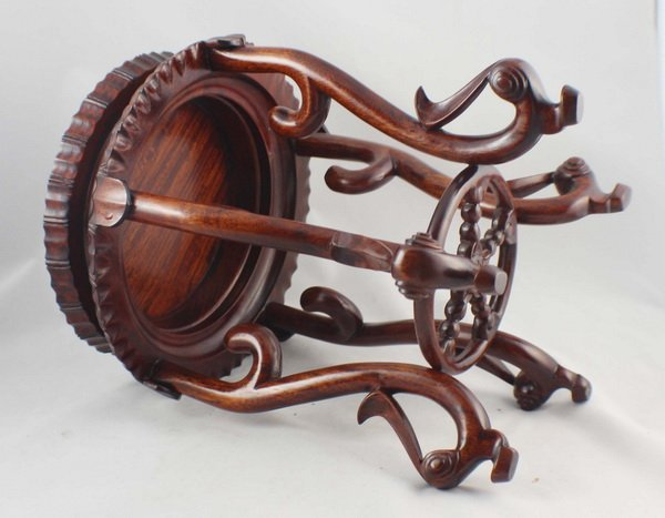 Chinese Carved Wood Stand - 6