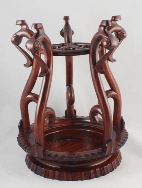 Chinese Carved Wood Stand - 8