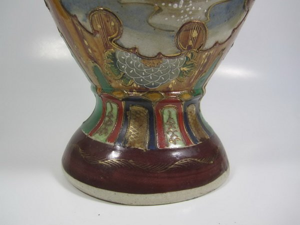 ANTIQUE JAPANESE SATSUMA VASE - 7