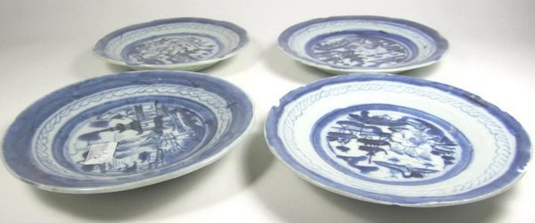 FOUR CHINESE EXPORT CANTON DISHES - 3