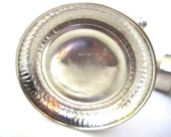 ANTIQUE VINTAGE SILVER COCKTAIL SHAKER - 4