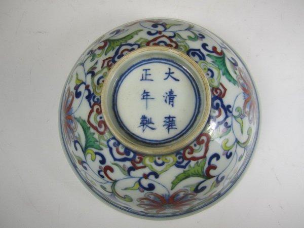 A CHINESE DOU CAI BOWL, YONGZHENG MARK. - 4