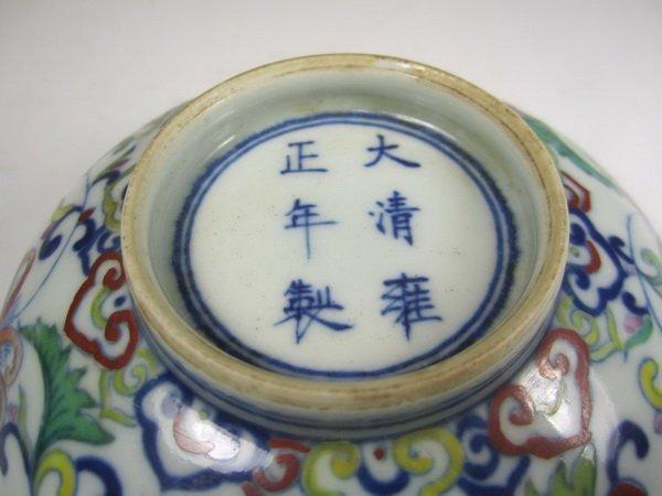 A CHINESE DOU CAI BOWL, YONGZHENG MARK. - 5