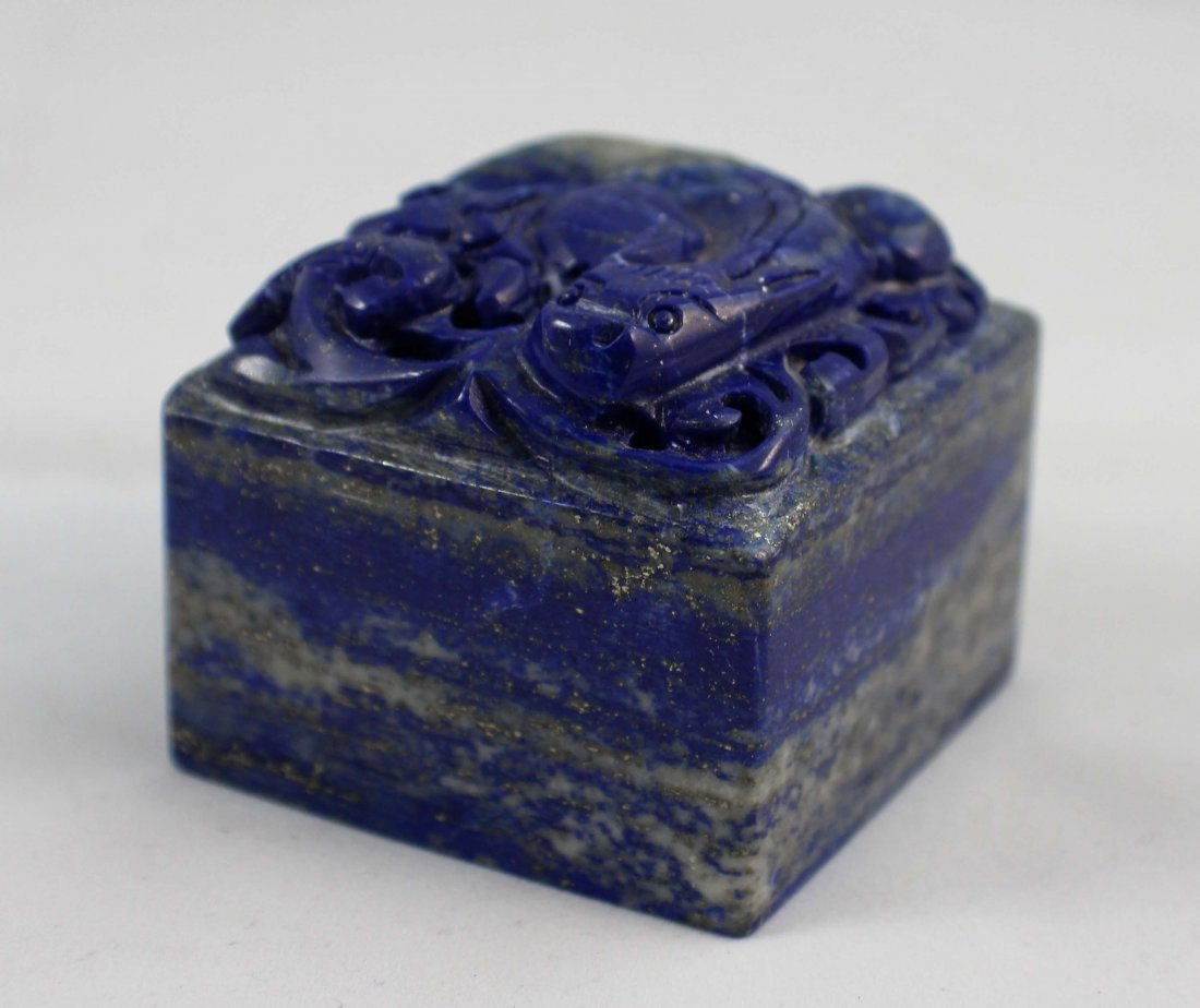 Chinese Carved Lapis Lazuli Seal