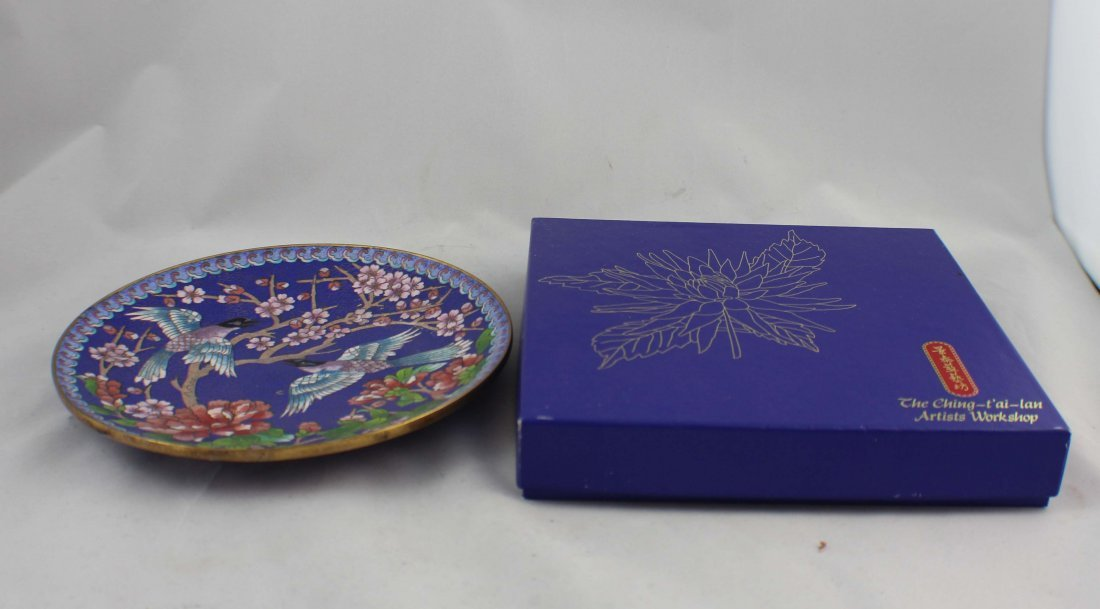 Paie Of Chinese Cloisonn Plates - 6