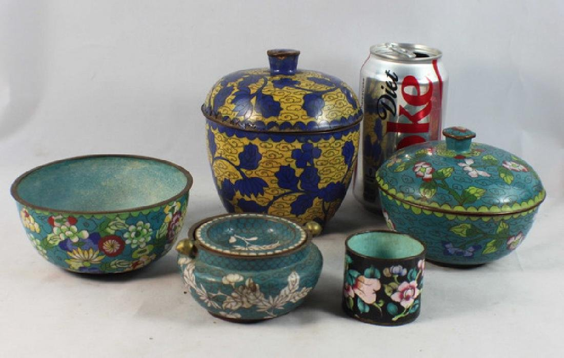 Group Of 5 Chinese Cloisonne Boxes - 2