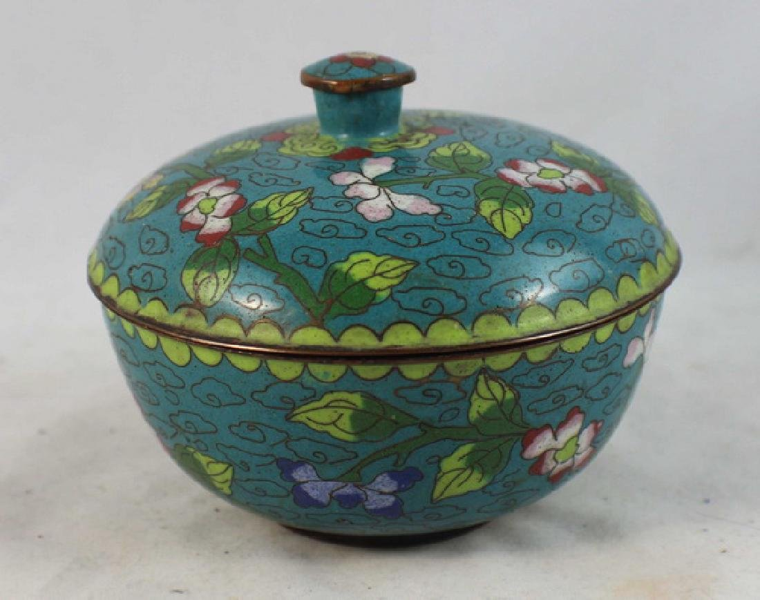 Group Of 5 Chinese Cloisonne Boxes - 5