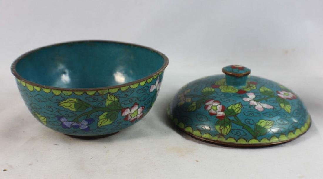 Group Of 5 Chinese Cloisonne Boxes - 6
