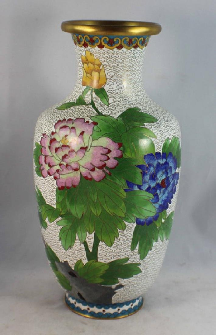 Group Of 5 Chinese Cloisonne Vases - 3