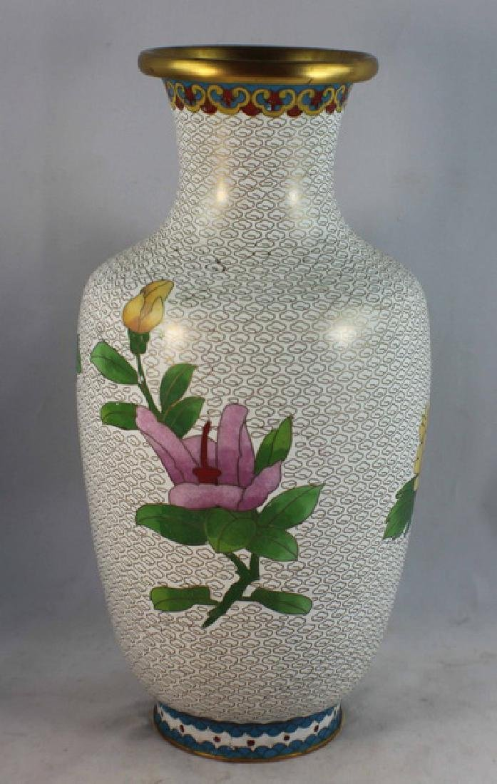 Group Of 5 Chinese Cloisonne Vases - 4