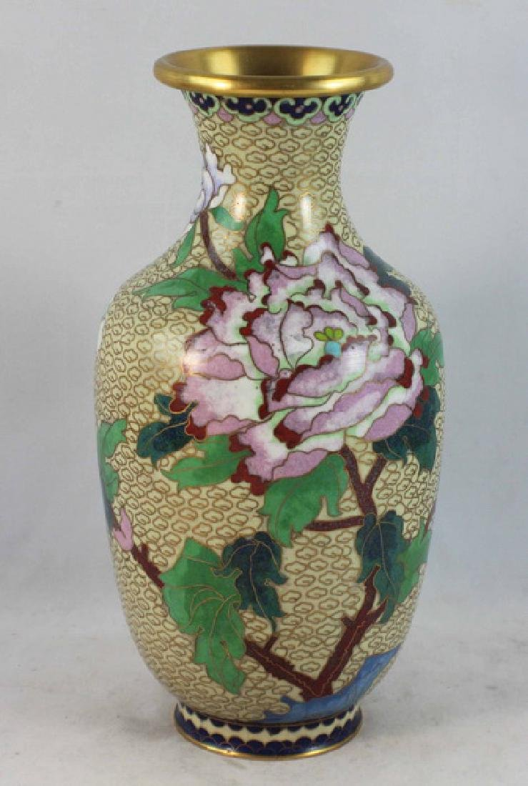 Group Of 5 Chinese Cloisonne Vases - 5