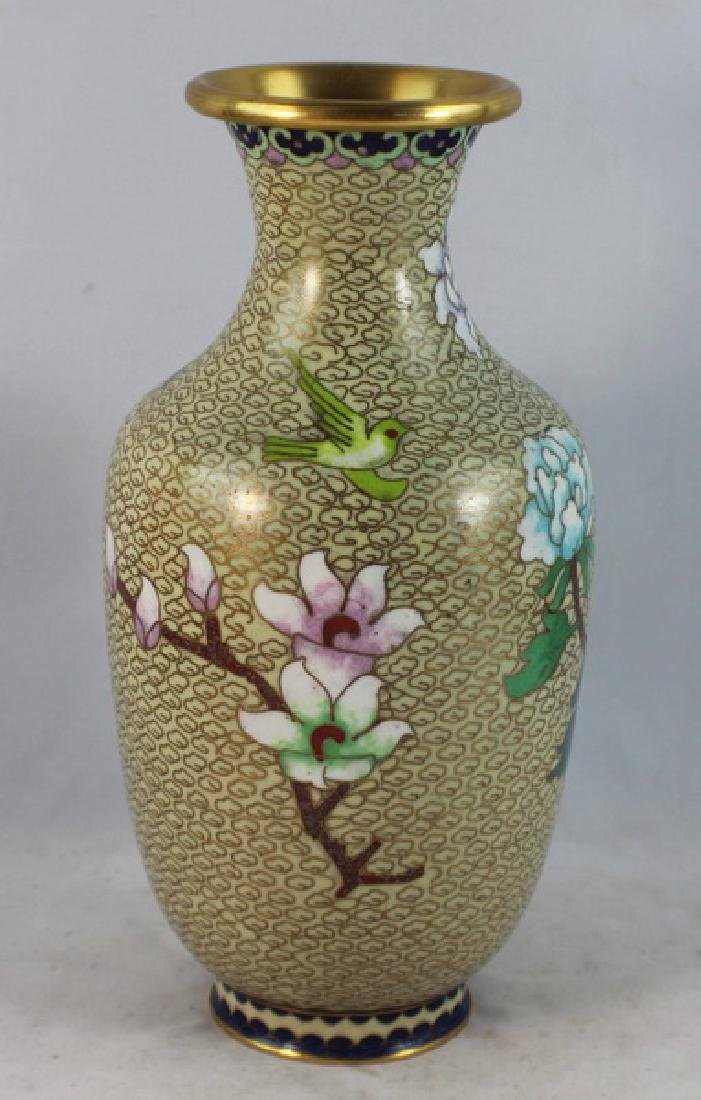 Group Of 5 Chinese Cloisonne Vases - 6