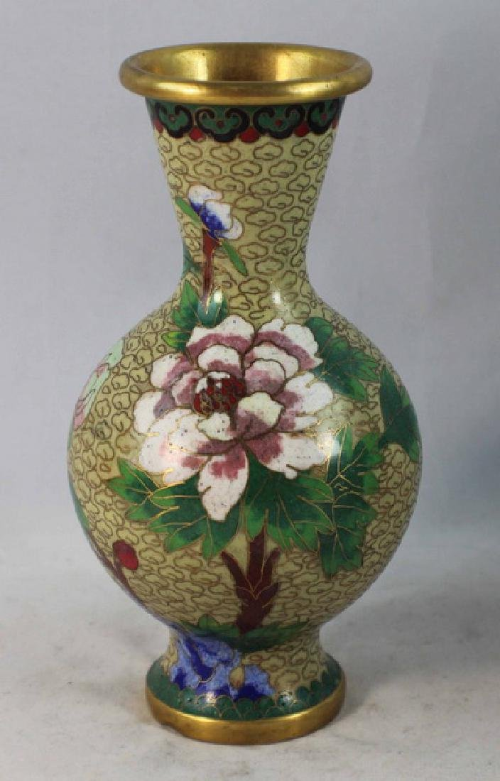 Group Of 5 Chinese Cloisonne Vases - 8