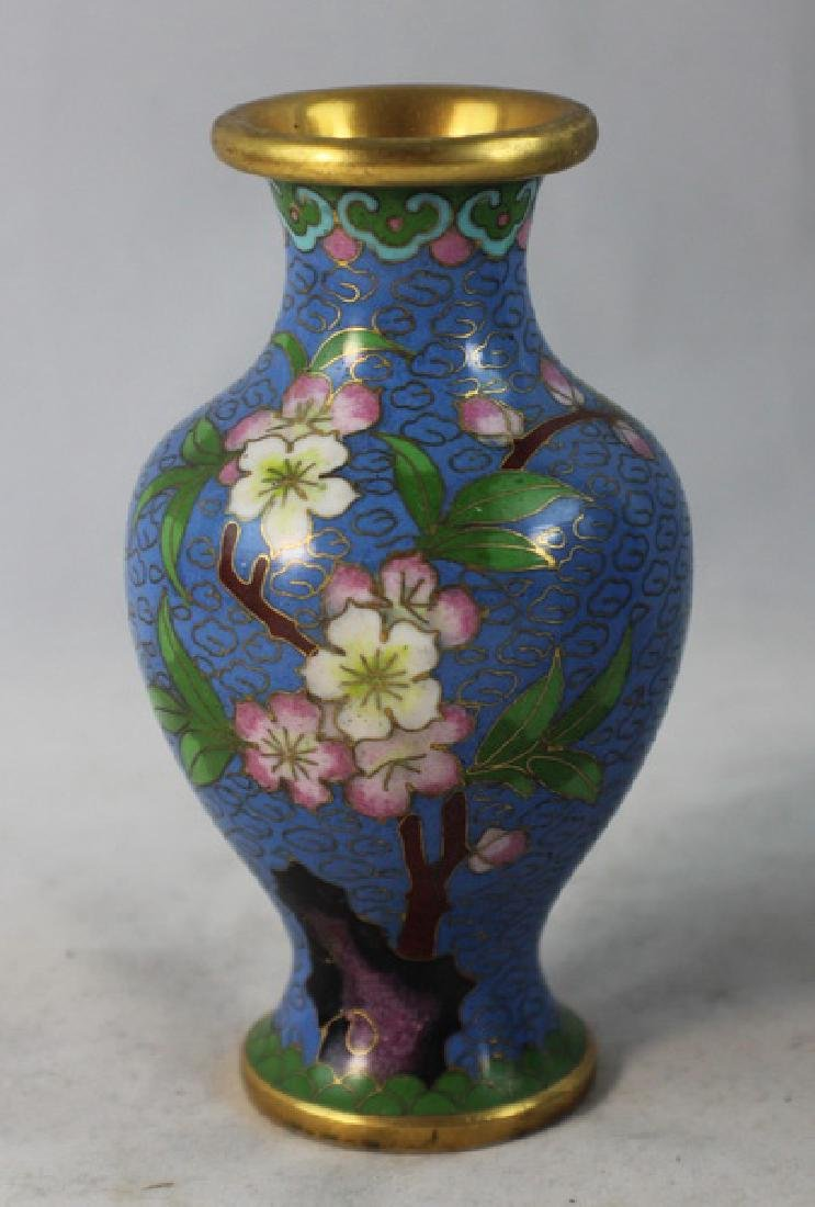 Group Of 5 Chinese Cloisonne Vases - 9