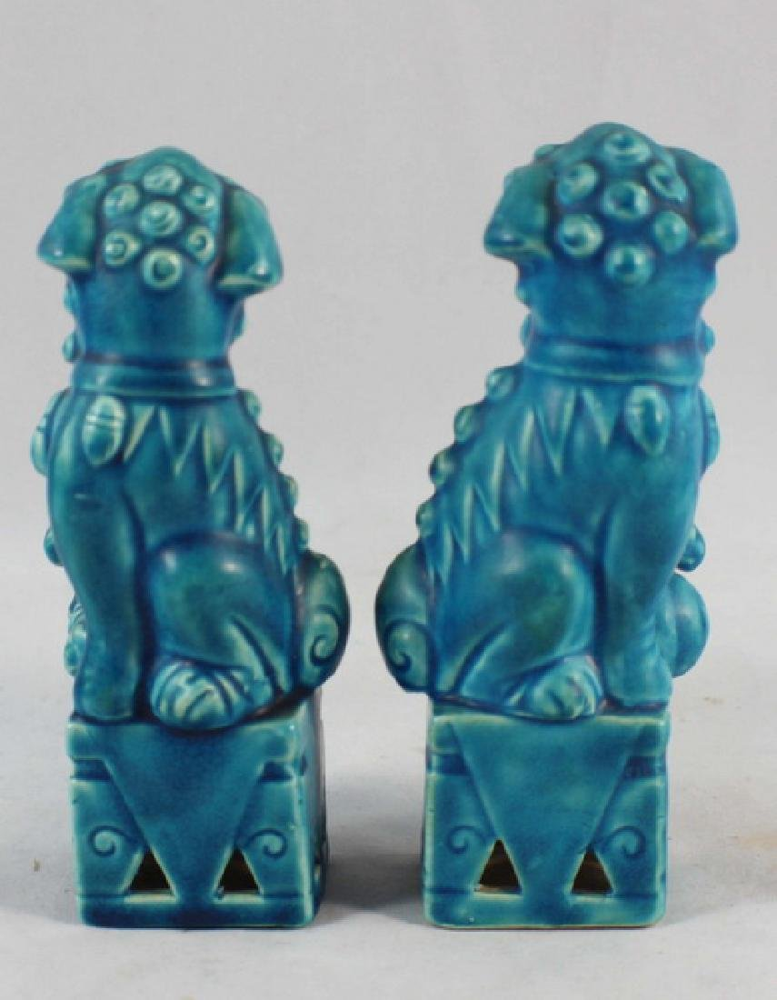 Pair Of Japanese Porcelain Statues Of Foo Dog - 4