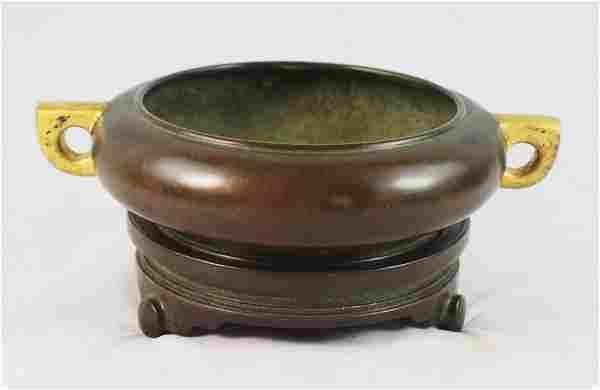 Antique Chinese Bronze Incense Burner w,Marked