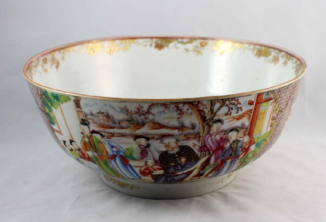 Antique Large Chinese Rose Medallion Porcelain Bowl