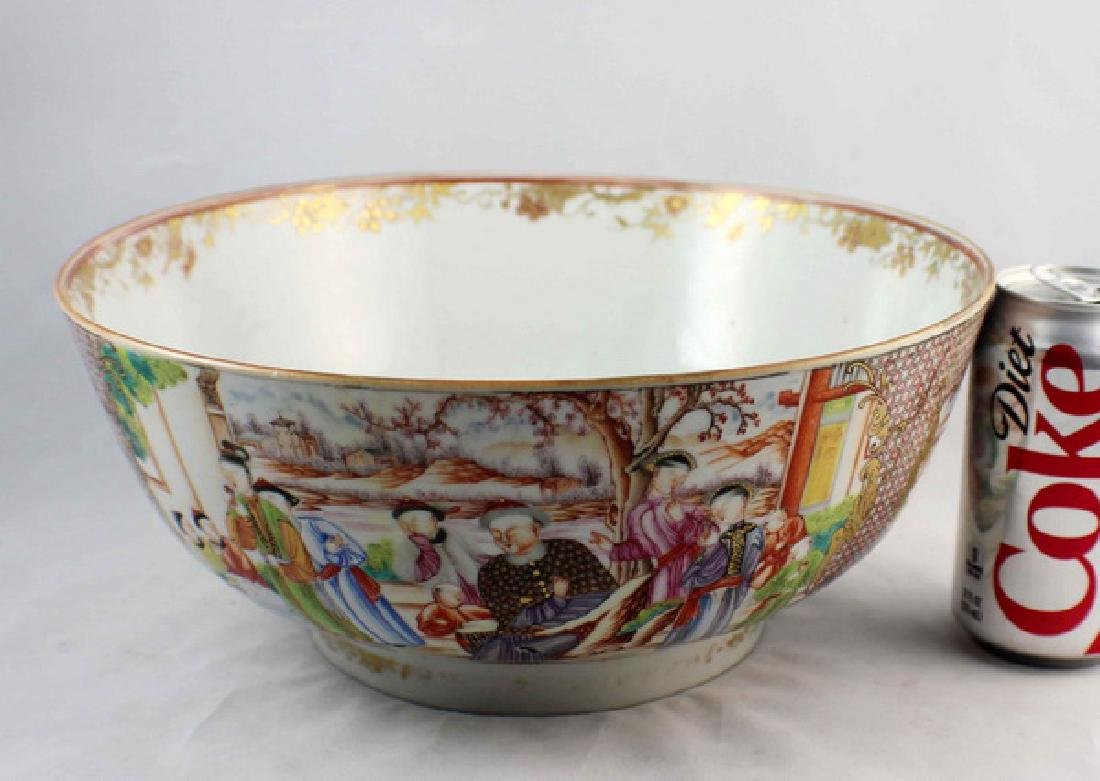 Antique Large Chinese Rose Medallion Porcelain Bowl - 2