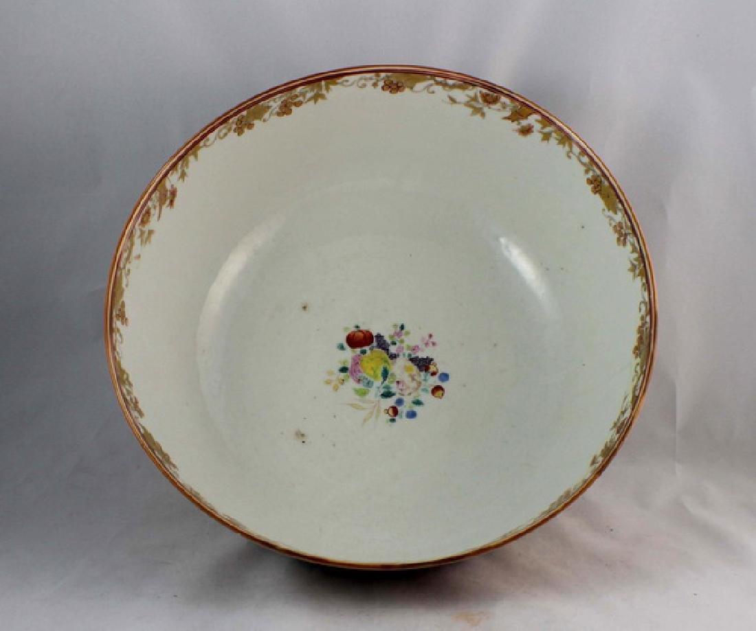 Antique Large Chinese Rose Medallion Porcelain Bowl - 3