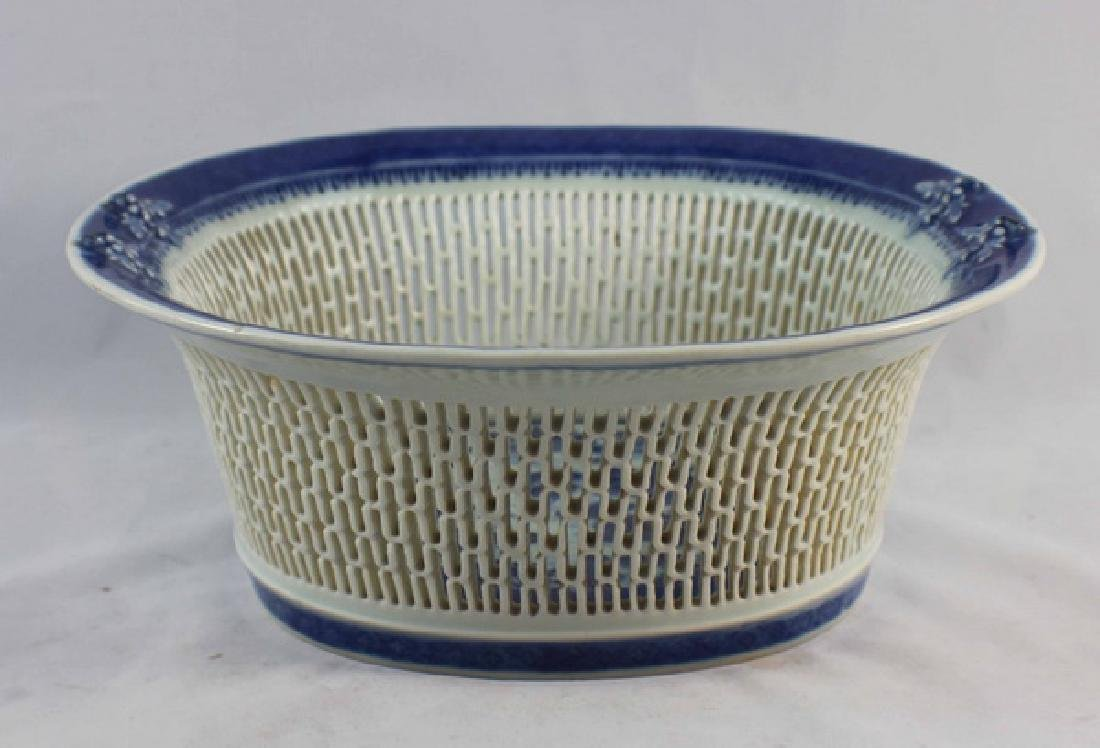 Antique Chinese Porcelain Fruit Bowl