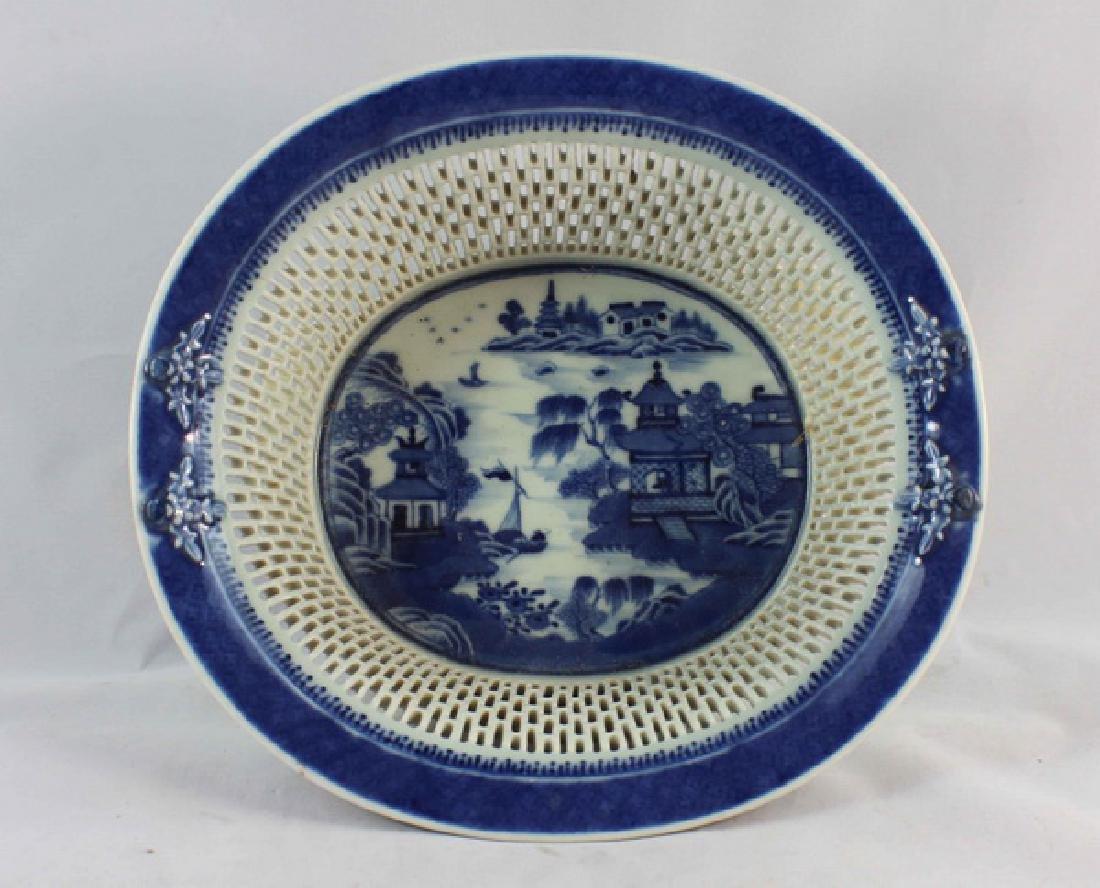 Antique Chinese Porcelain Fruit Bowl - 3