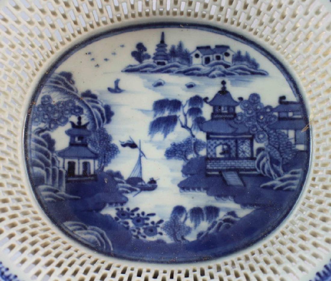 Antique Chinese Porcelain Fruit Bowl - 4