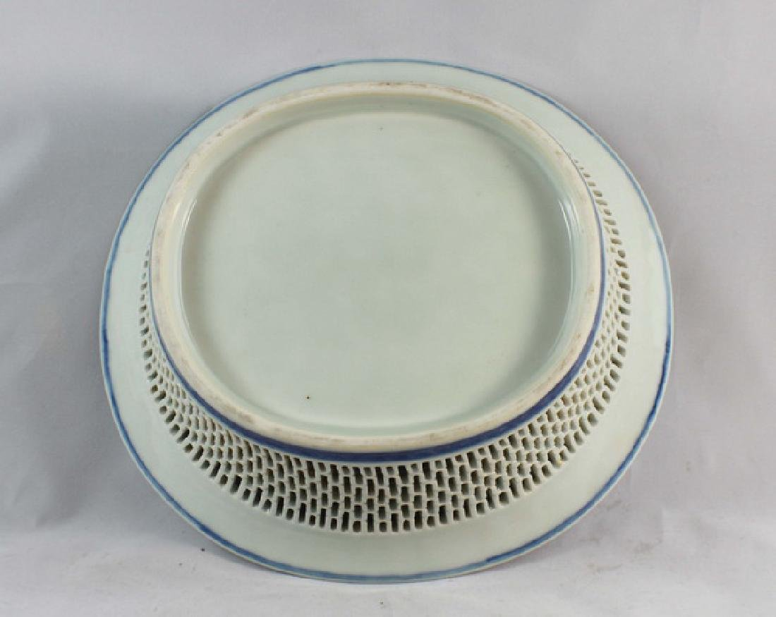 Antique Chinese Porcelain Fruit Bowl - 5
