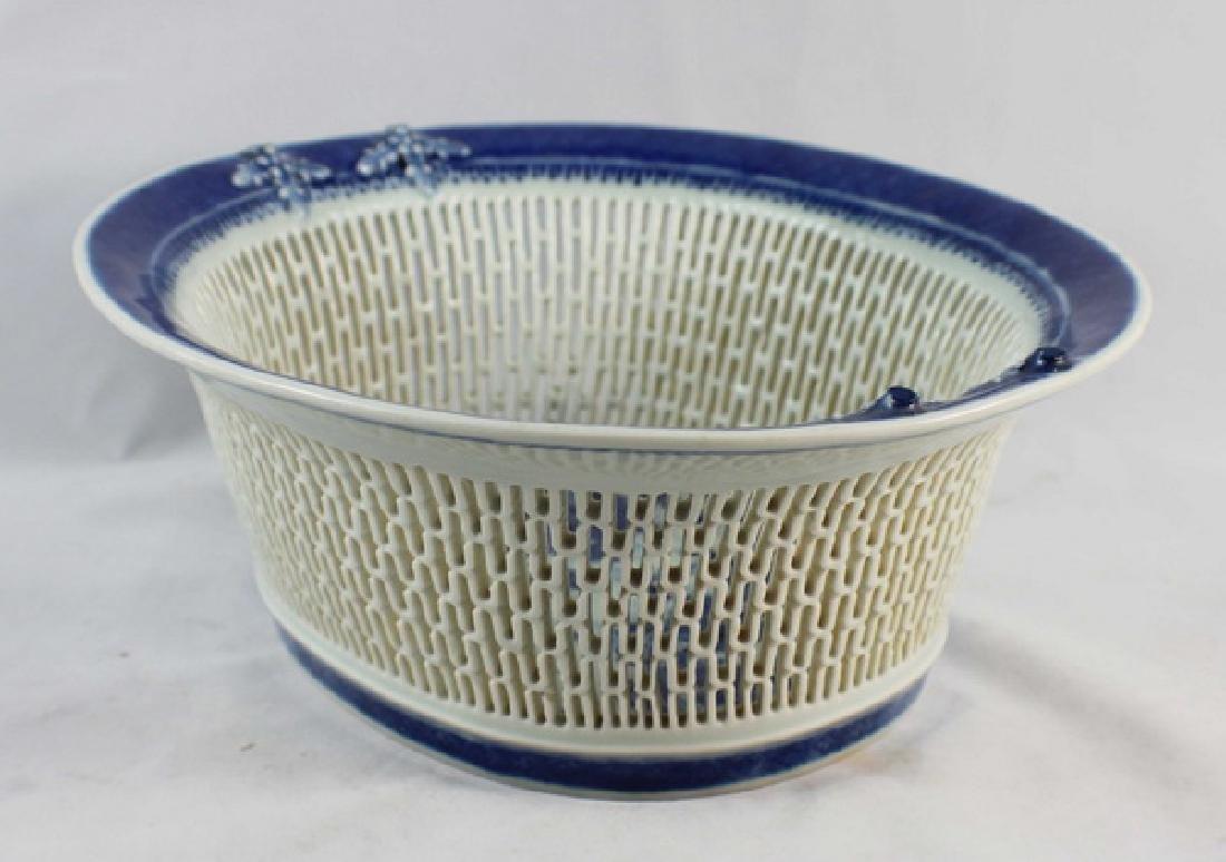 Antique Chinese Porcelain Fruit Bowl - 6