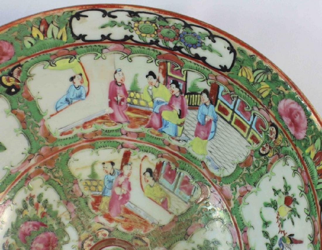 Antique Large Chinese Rose Medallion Porcelain Bowl - 4