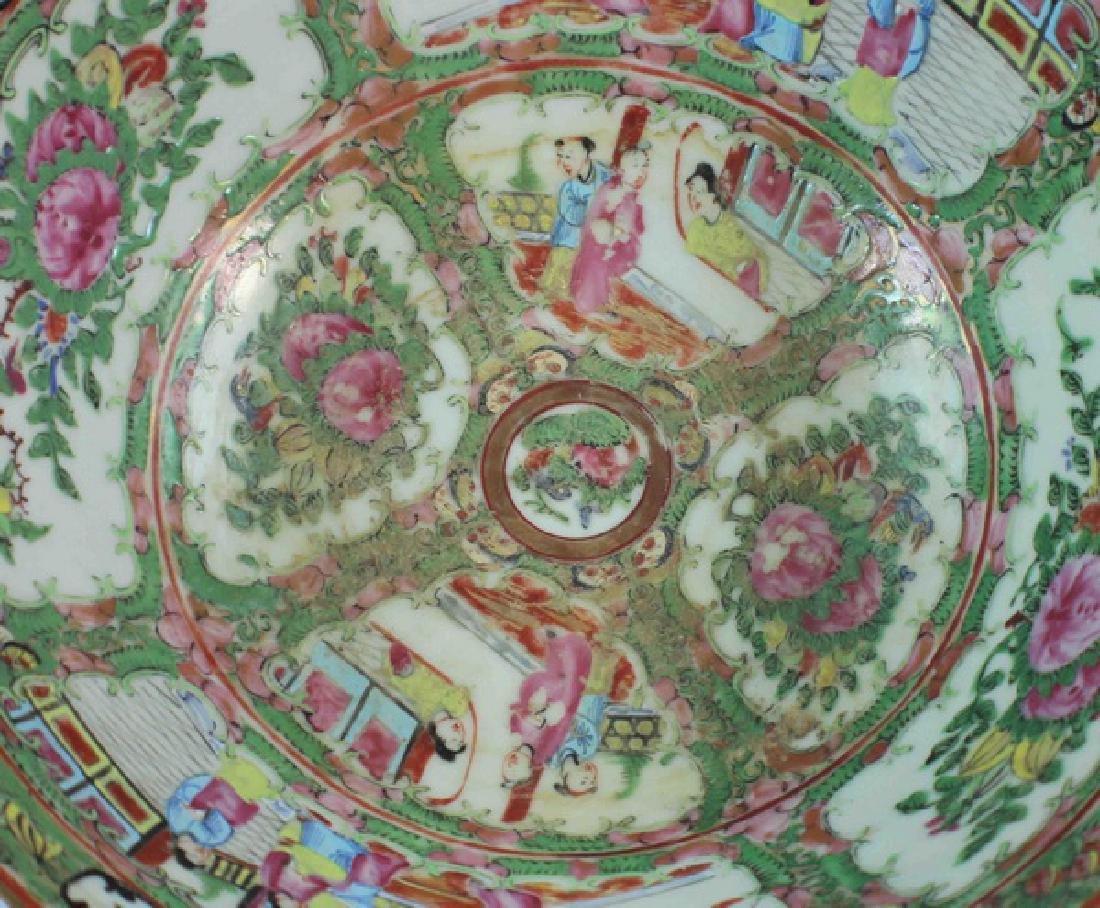 Antique Large Chinese Rose Medallion Porcelain Bowl - 5
