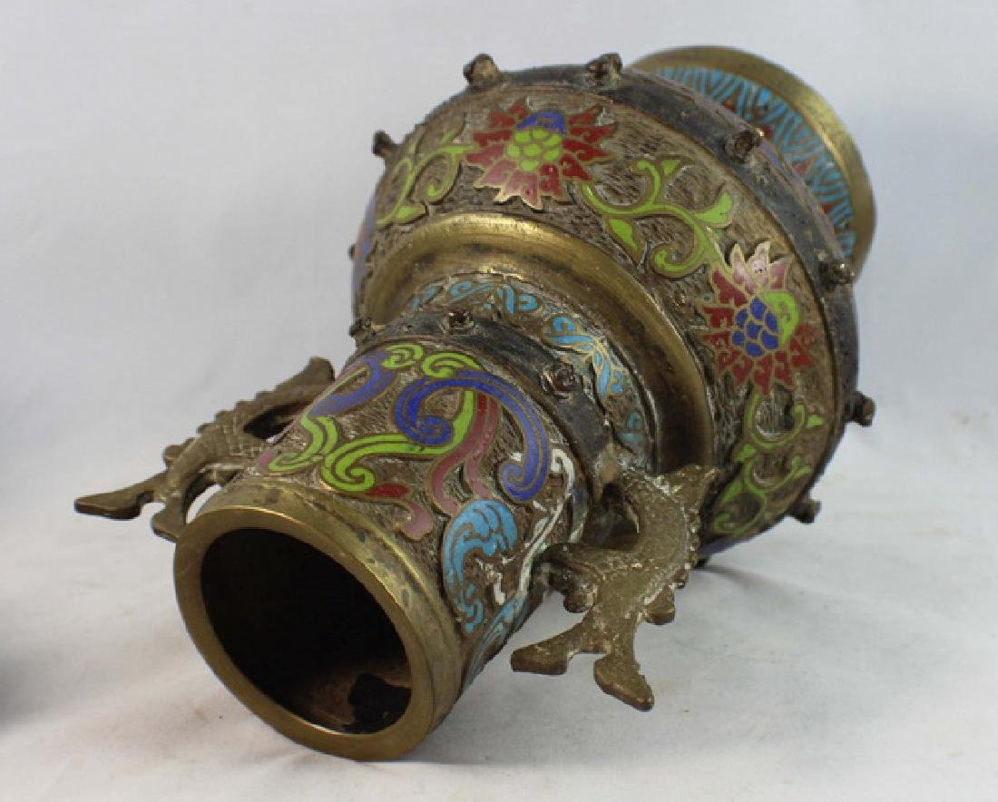 Japanese Cloisonne Vase - 3