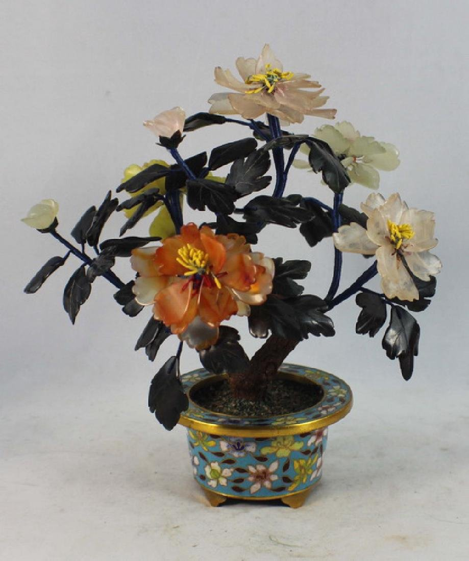 Chinese Carved Jade Tree