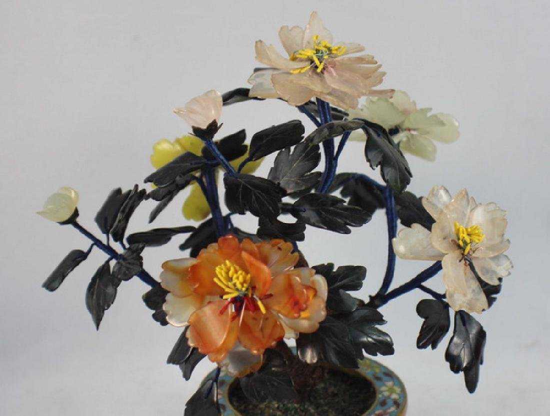 Chinese Carved Jade Tree - 2