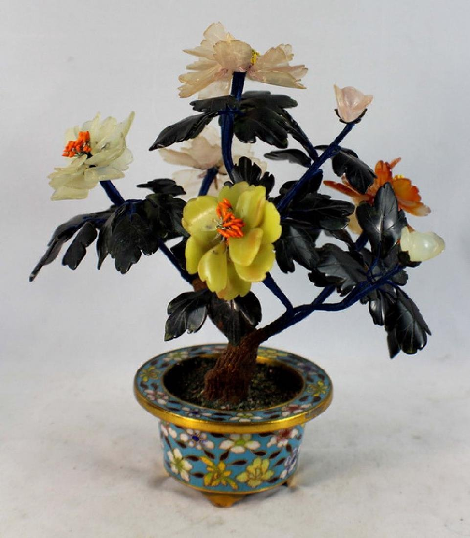 Chinese Carved Jade Tree - 5