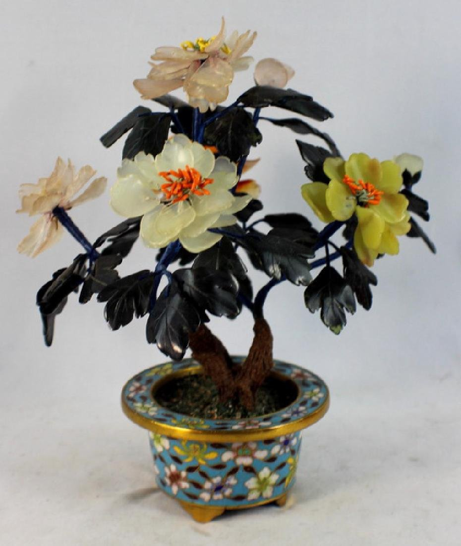 Chinese Carved Jade Tree - 6