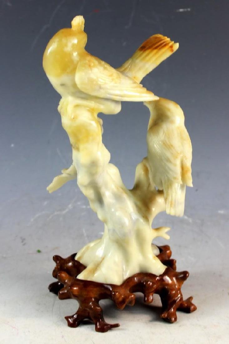 Chinese Carved Stone Statue Of Bird - 5