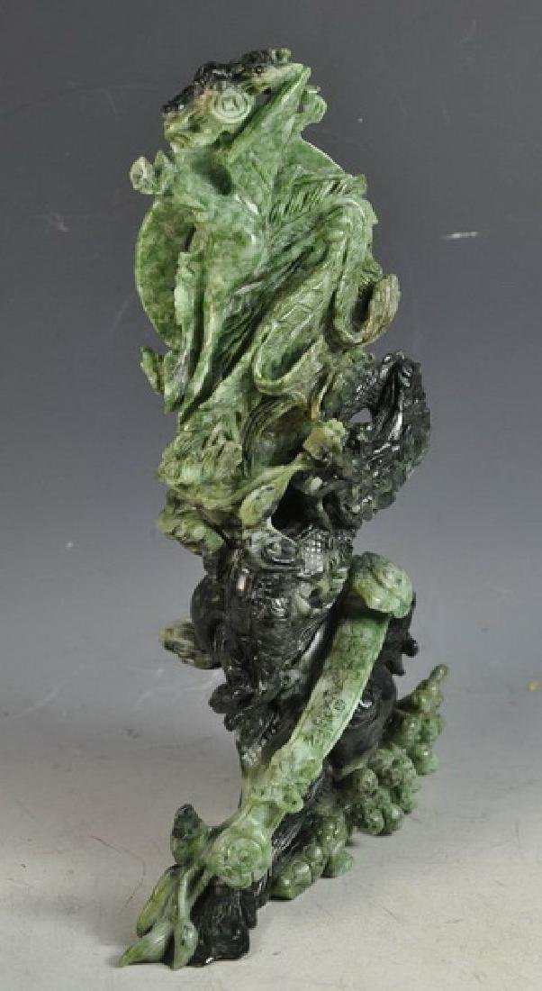 Chinese Carved Jade Statue Of Bird - 3