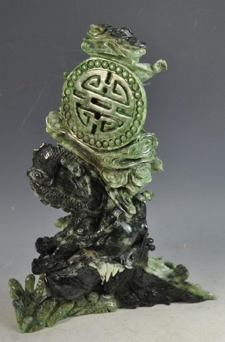 Chinese Carved Jade Statue Of Bird - 4