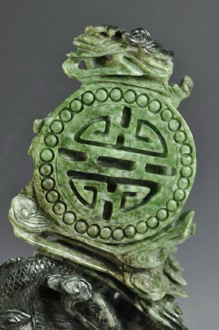 Chinese Carved Jade Statue Of Bird - 5