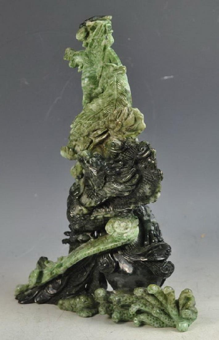 Chinese Carved Jade Statue Of Bird - 6