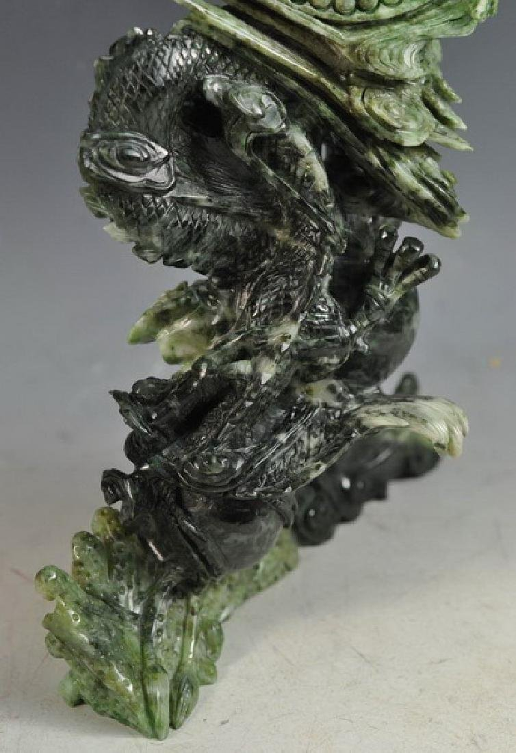 Chinese Carved Jade Statue Of Bird - 7